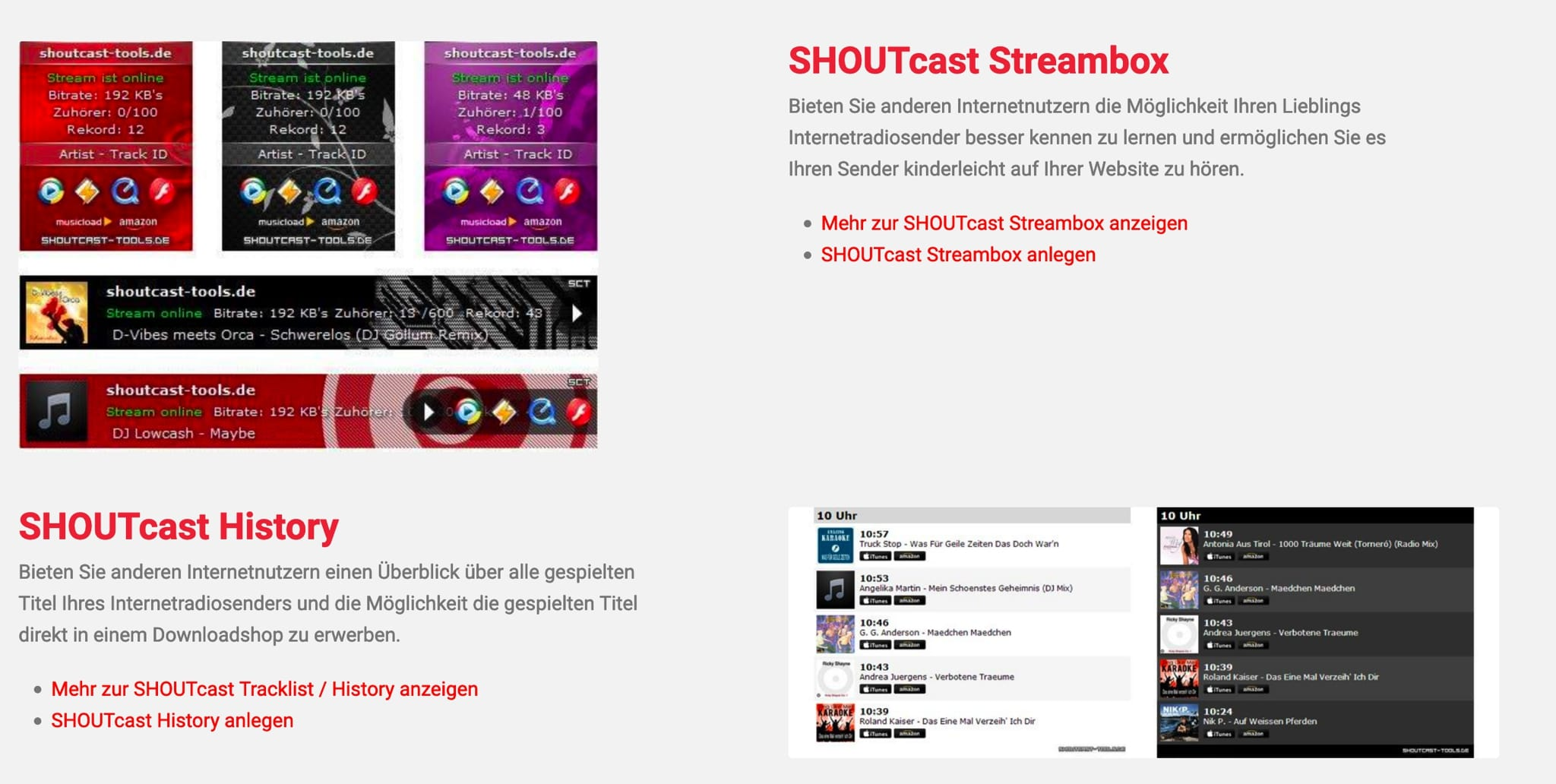 SHOUTcast Tools